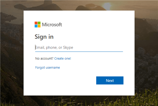 Microsoft Sign Up