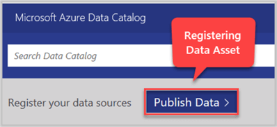 Publish Data - Registering Data Asset