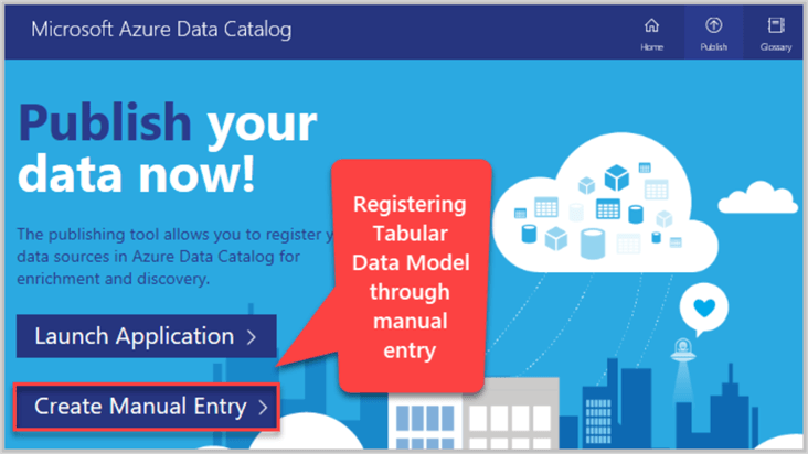 Registering Tabular Data Model through manual entry
