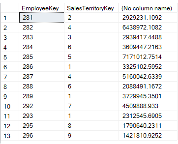 using exists when matching on multiple columns