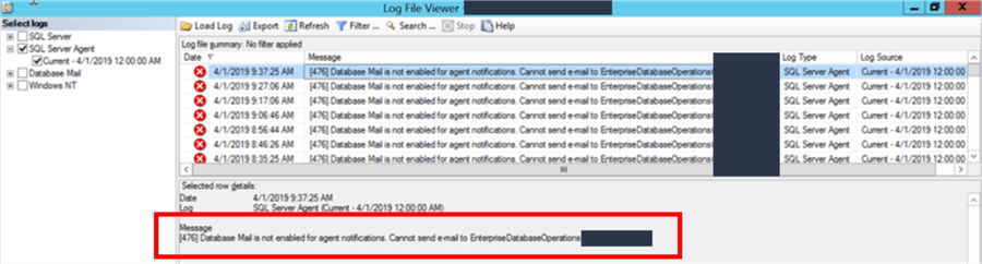 SQL Server Agent Unable to Send Email