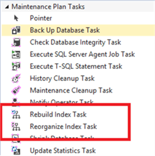 rebuild index task