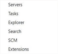Azure Data Studio - Install Program - Main Menu Items - These are the seven most important actions within the editor.