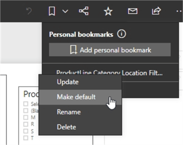 Personal bookmarks changes