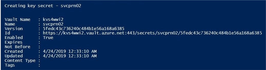 Azure Key Vault is a great place to store secrets for Service Principles.