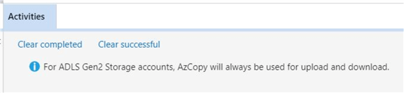 AzCopy is the work horse behind the storage explorer.