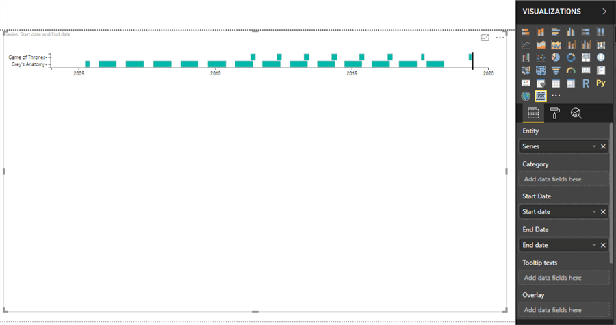 Power BI As-Timeline visual