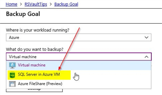 Azure Recovery Services Vault