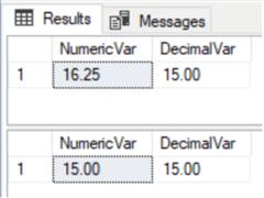 Compare SQL Server Features - Decimal vs Numeric, Timestamp vs