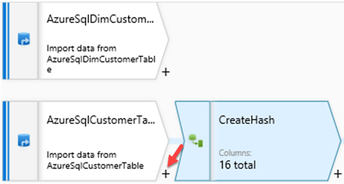 Step to create hash in data flow