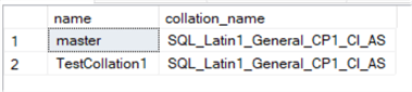 Database Collation considerations 1
