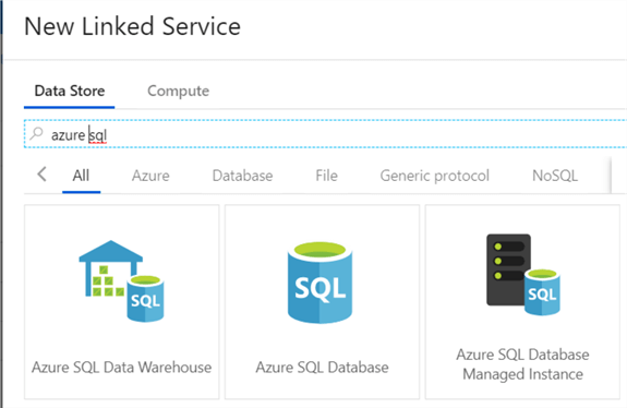 connector to Azure SQL DB