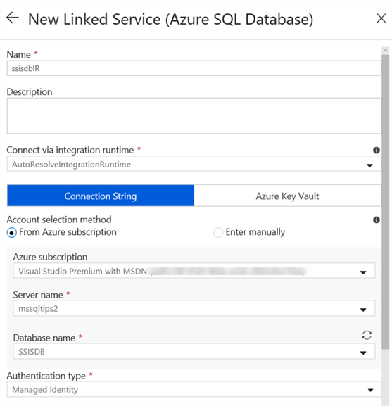 create new linked service