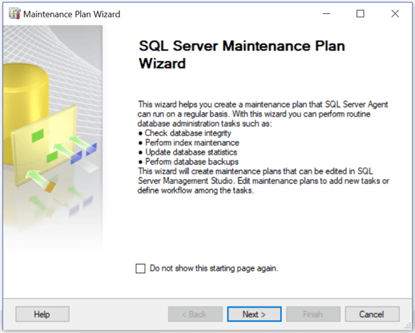 sql server maintenance plan