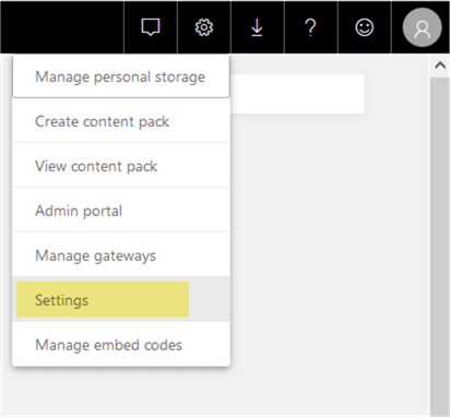Power BI Service Settings
