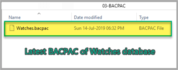 Latest BACPAC of Watches database