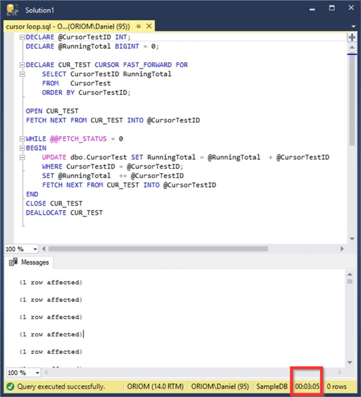 SQL Server Loop through Table Rows without Cursor