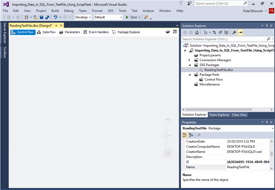 Import Text and CSV Files into SQL Server Database with SSIS