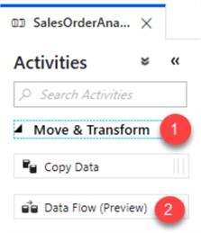 MSSQLTip14_ADFDataFlowActivities Step to select Data Flow Activity
