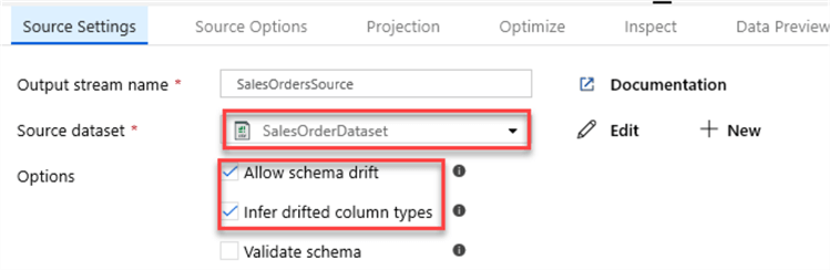MSSQLTip14_DataFlowSourceSettings Setting for the dataflow source