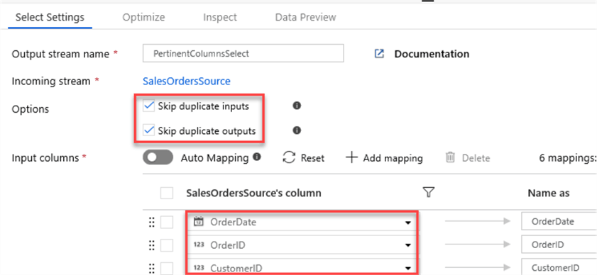 MSSQLTip14_DataFlowSelectSettings Select settings and options