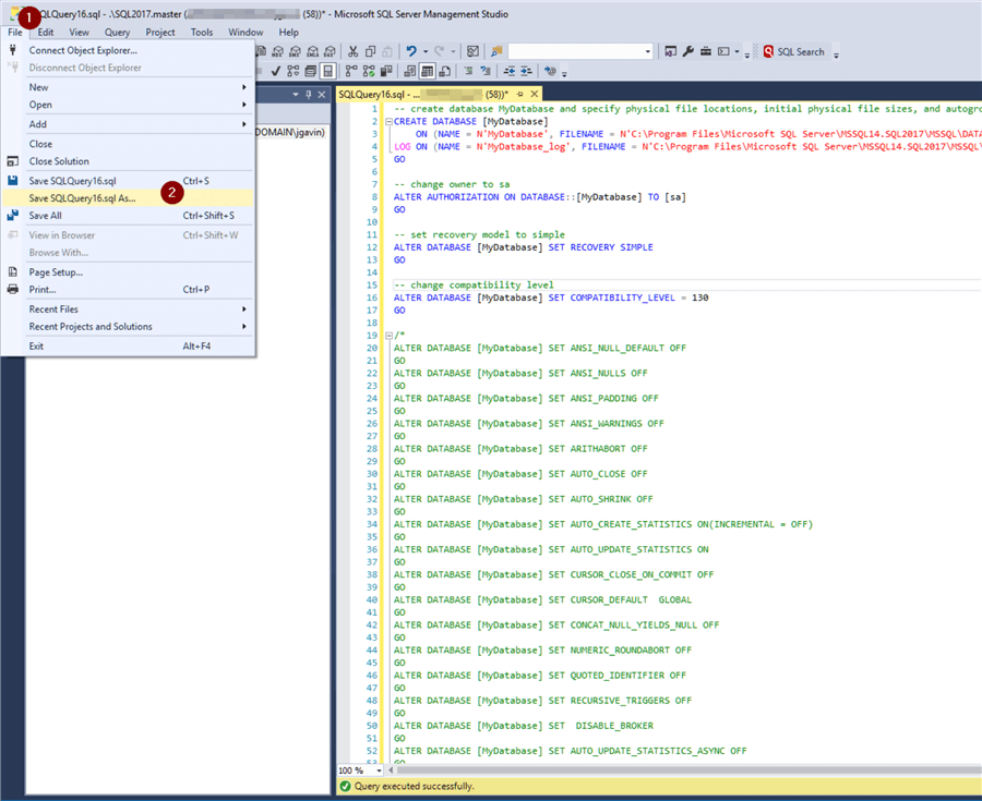 SQL Server Create Database Examples