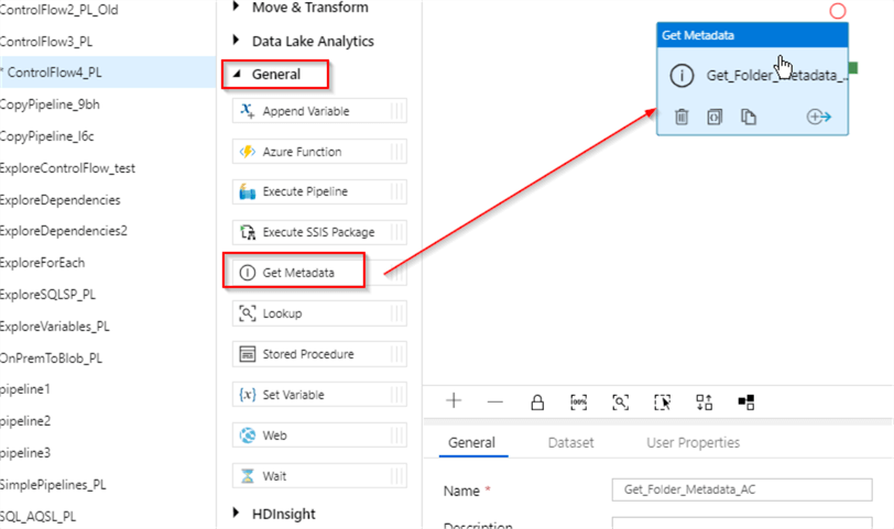 Azure Data Factory Get Metadata Example