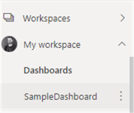 dashboards in workspace