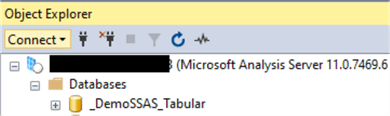 Connect to SSAS instance with SSMS