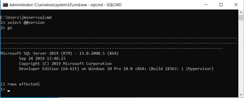 Power Query Source - Validate local install of SQL Server.