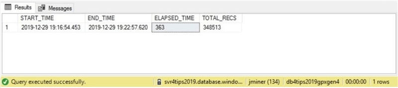General Purpose - Azure SQL database - Provisioned Gen 4 timing.