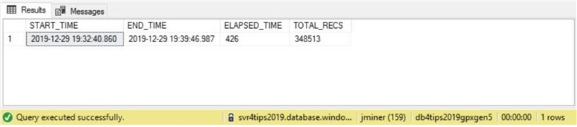General Purpose - Azure SQL database - Provisioned Gen 5 timing.