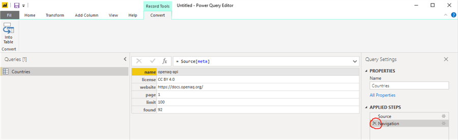 power query meta data