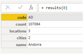 power query data