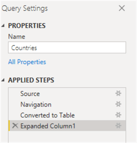 power query settings
