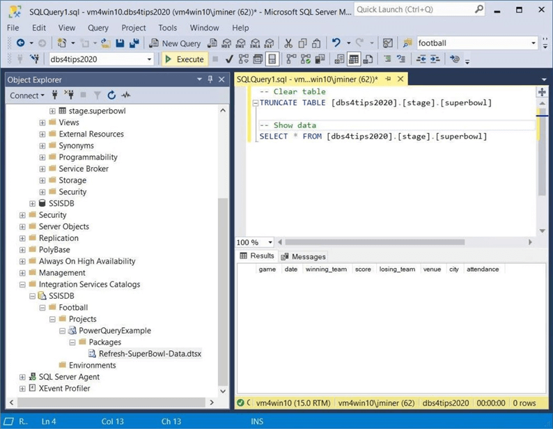 SSIS Catalog - Part 1 - Review target table before execution