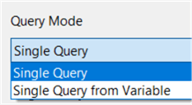 single query or variable