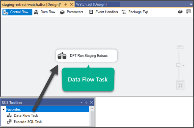 Data Flow Task to copy data from source to destination