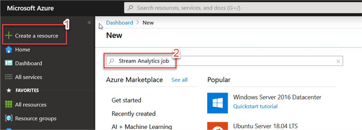 search Stream Analytics Job resource
