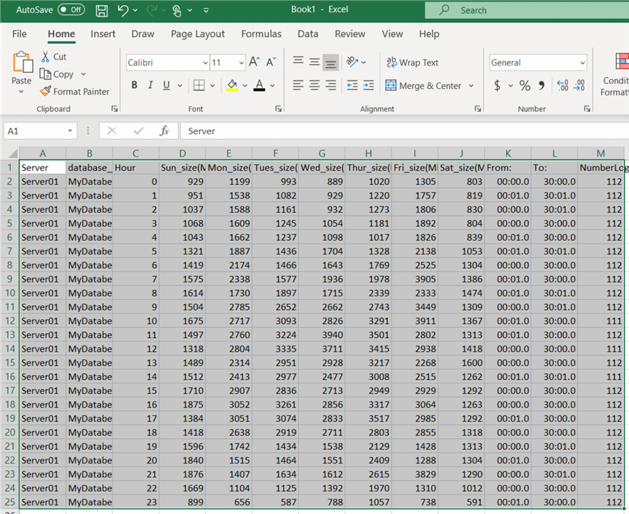 paste data into Excel