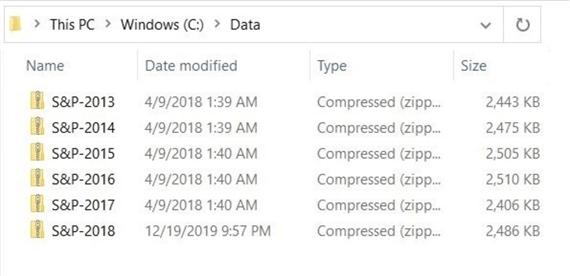 压缩数据文件