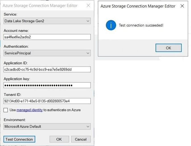 Azure存储连接管理器编辑器