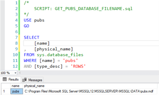 Get the data file name for the pubs database.