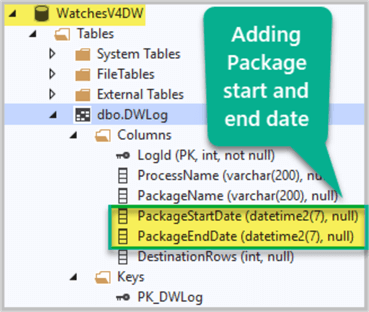 Adding Package Start and End Date