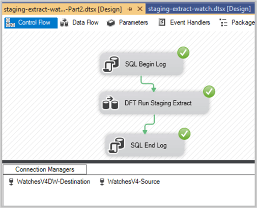 Staging extract SSIS Package