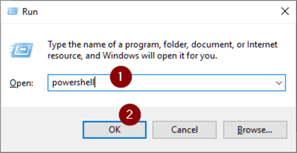 启动PowerShell可执行文件