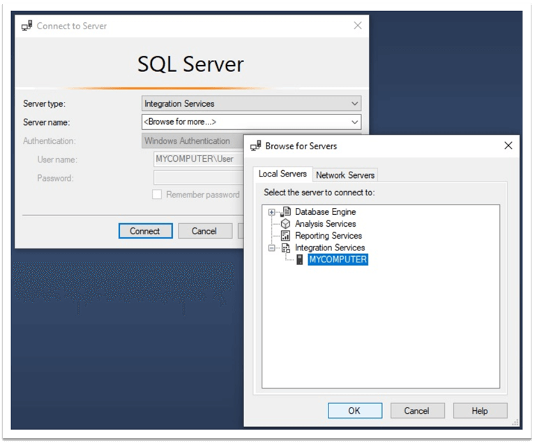 connect to ssis