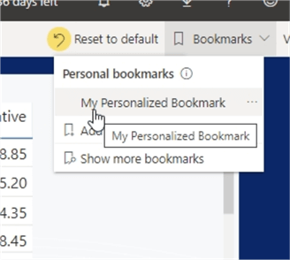 Select Bookmark
