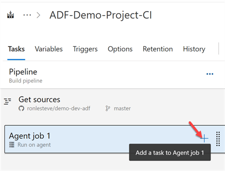 Step to add task to agent job.