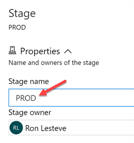 Step to add ADO release pipeline stage name.